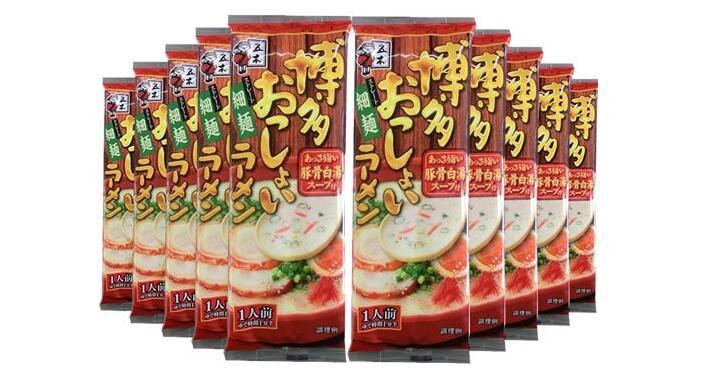 【日本亞馬遜】五木齋宮 博多豚骨豬骨白湯拉面 123g*10袋降至1125日元+定期購9折