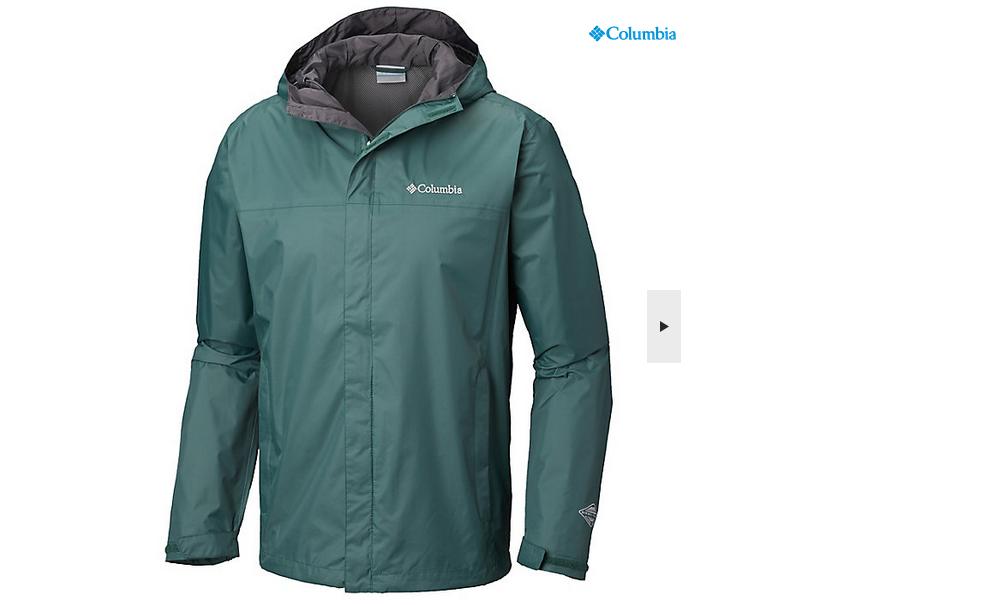 【额外9折】Columbia 哥伦比亚 Watertight II 男士户外防水冲锋衣夹克 绿色 特价$39.59