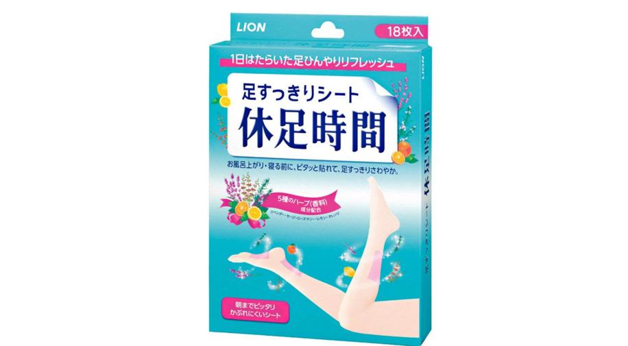 【日本亞馬遜】日本藥妝店狂售商品!LION獅王休足時間清涼足貼 18枚 湊單482日元 2件8折