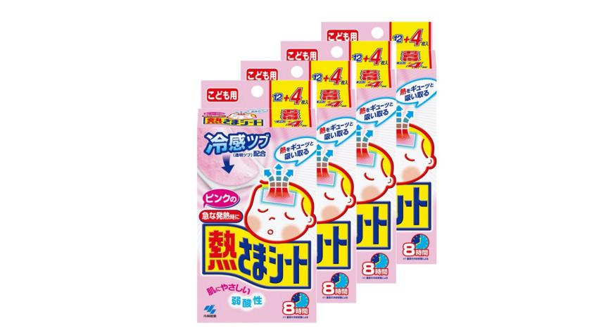 【日本亚马逊】KOBAYASHI 小林制药 儿童用退热贴 2岁以上 16片*4盒 额外8折1626日元(约¥103