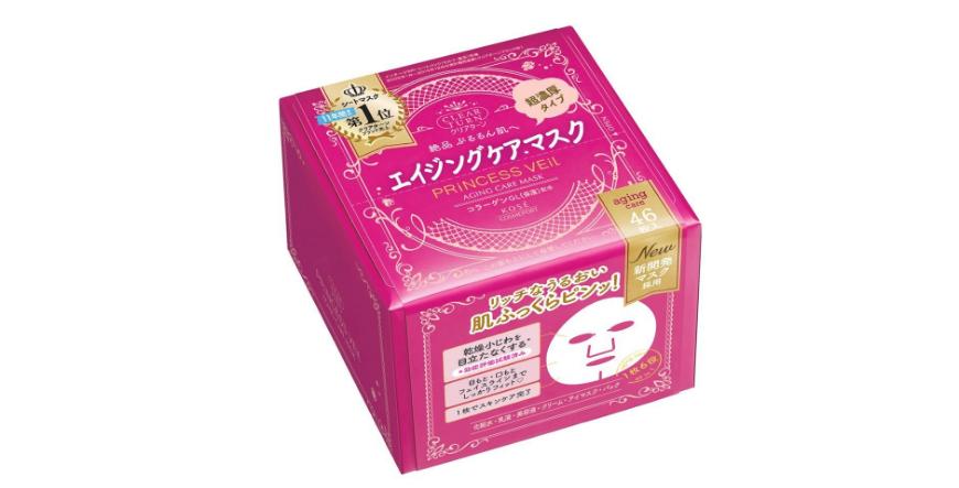 【日本亞馬遜】kose 公主面紗 超濃厚特潤保濕面膜 紫色 46枚 日元1046(約67元)+10積分+定期購9折!