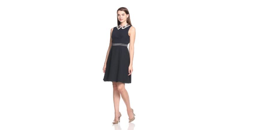 【日本亞馬遜】Snidel 花瓣領連衣裙 3色可選 SWFO174095 6,509日元(約414元)