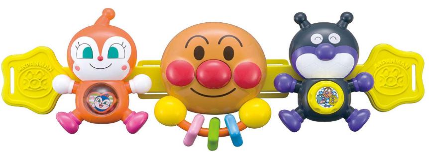 【日本亞馬遜】面包超人 嬰兒車掛件玩具寶寶推車搖鈴手抓安撫玩具降至1340日元+13積分