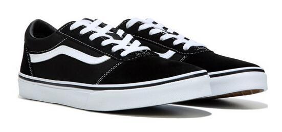 補碼!Vans范斯 ward lo大童款板鞋 黑色湊單折后價$28.68