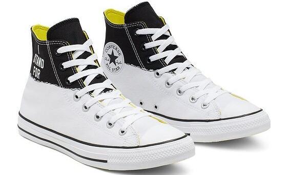 降价!Converse 匡威 All Star 黑白柠檬黄拼色高帮鞋 £39.99(约367元)