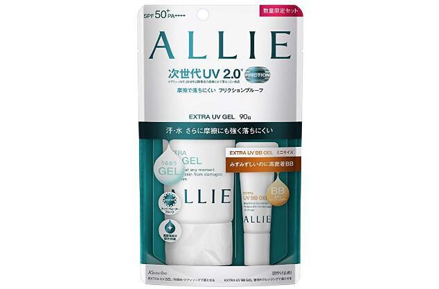 ALLIE嘉娜宝新版防晒套装 绿色矿物保湿 90g+防晒BB霜8g降至2107日元