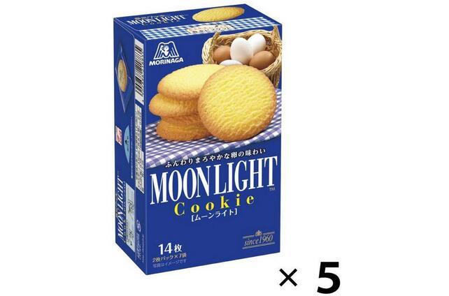 森永 月光鸡蛋黄油小麦曲奇饼干 14枚×5箱降至684日元+7积分