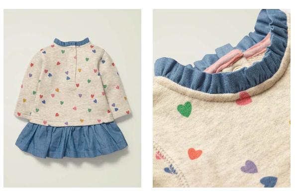 Boden官网Sweatshirt Dress 童款卫衣连衣裙 £20.8(约188元)