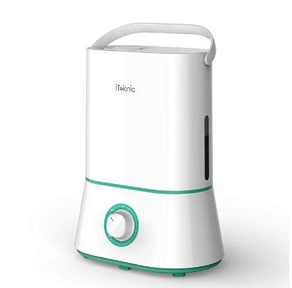 低价优惠:iTeknic 静音加湿器 4L 现价只需$19.99