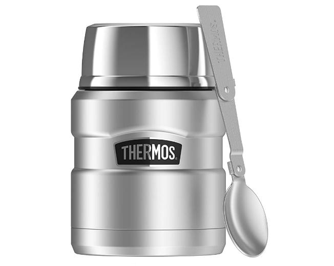 史低价:Thermos膳魔师不锈钢焖烧杯带折叠勺 16oz $15.99