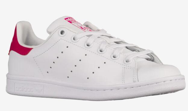 新低!adidas Originals三叶草Stan Smith粉尾 大童款仅$33.99