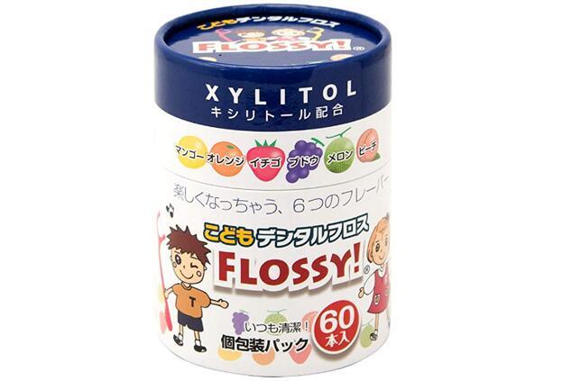 【日本亚马逊】新版 Flossy 儿童专用牙线棒 6种水果味 60根补货713日元