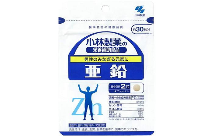 KOBAYASHI小林制药 亚铅补锌片 60粒 改善脱发 挑食 痤疮降至598日元+6积分+定期购9折