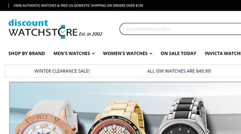 Discount Watch Store美国官网:著名手表在线折扣海淘网站