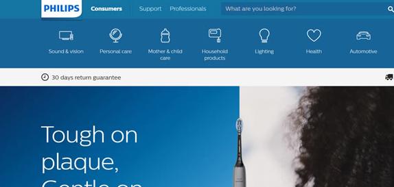 飞利浦美国官网:Philips剃须刀、电动牙刷美国官方海淘网站