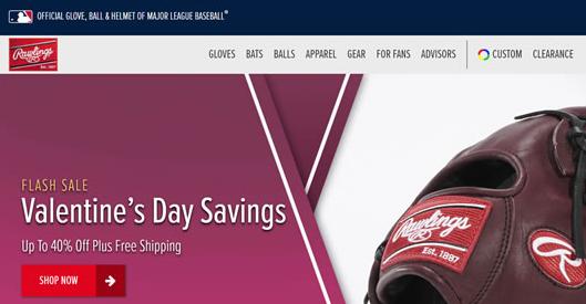 Rawlings美国官网:美国职棒大联盟官方手套、球和头盔海淘网站