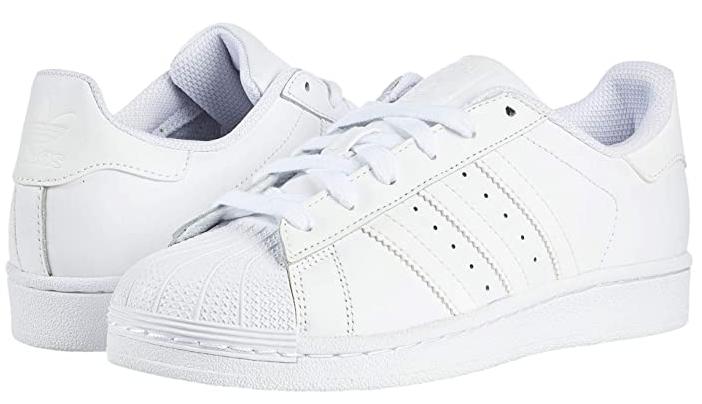 6折!Adidas阿迪达斯Superstar大童金标白色贝壳头特价$42