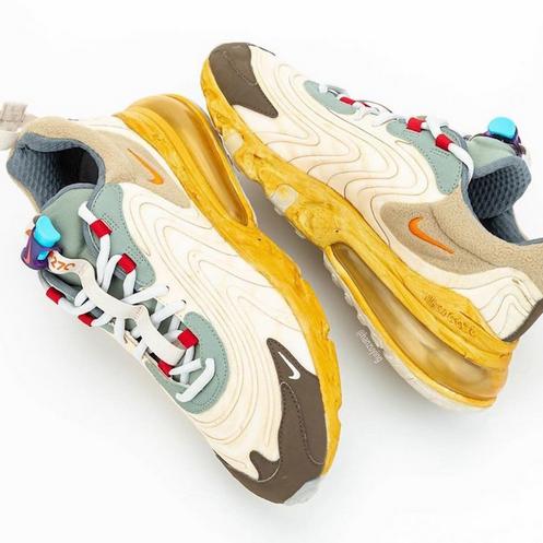 Travis Scott x Nike Air Max 270 React 延期海淘发售!预计5月登场!