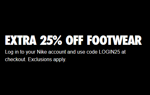 Nike美国官网全场鞋履海淘下单无门槛额外75折,会员免邮