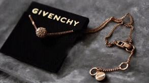 梅西百货购Givenchy纪梵希火球玫瑰金锁骨链58折$15.99