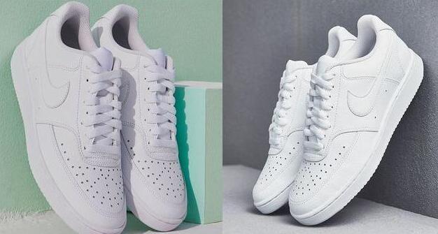 DSW官网现有Nike Court Vision女款纯白板鞋 6折价$38.99