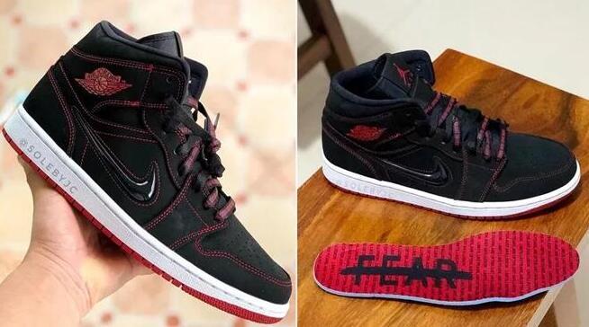 6折!Air Jordan 1 Mid 黑红大童款 海淘折后价$59.95