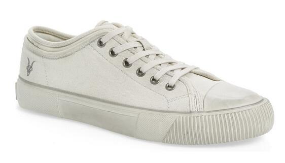 Nordstrom官网购AllSaints男款小白鞋海淘5折价$69.98