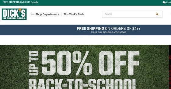 DICK'S Sporting Goods美国官网:运动鞋及运动服海淘网站