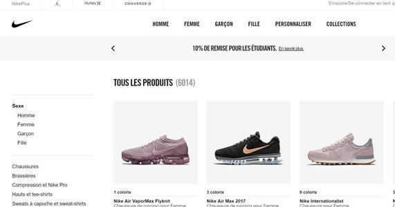 Nike耐克法国官方网站:Nike.com FR耐克运动鞋海淘网站