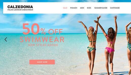 Calzedonia美国官网:意大利风格沙滩装、泳装海淘网站