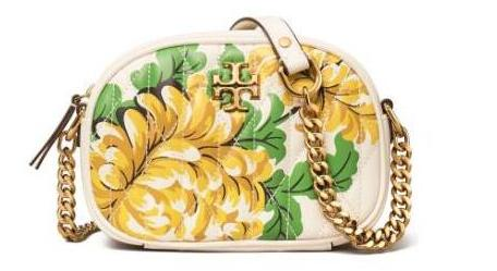 Tory Burch Kira Quilted Floral小号相机包 印花款6折$238.8
