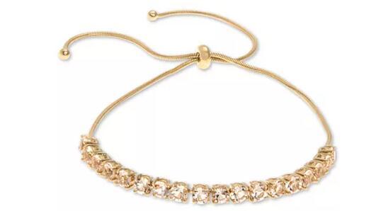 Givenchy纪梵希 简约清新可调节水晶手链 金色2.5折$13.73