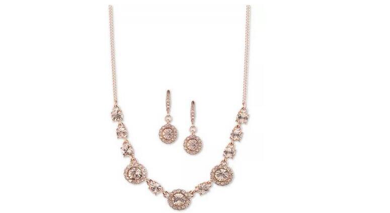 Givenchy纪梵希女款项链+耳环套装 三色可选25折$21.93
