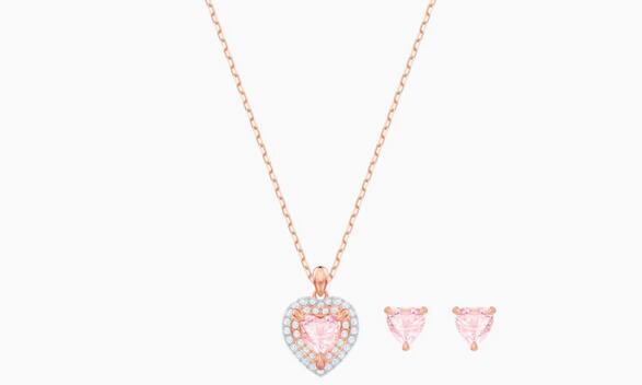 Swarovski施华洛世奇 粉水晶之心套装 降至5折$74.5
