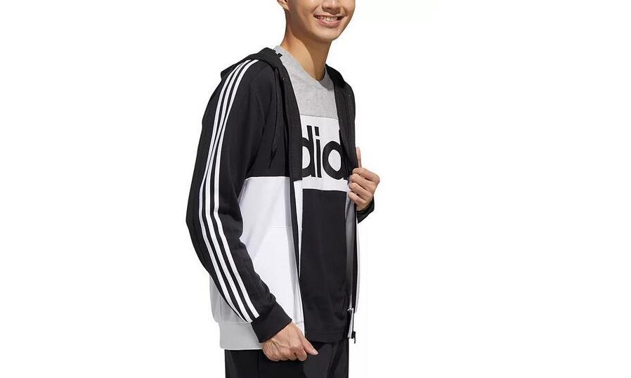 Adidas阿迪达斯男士黑白拼色外套 降至3折价$18