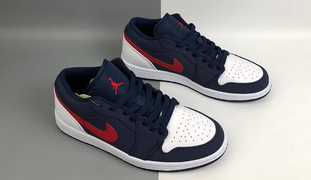 Air Jordan 1 Low红白蓝爱国者大童款篮球鞋售价$85
