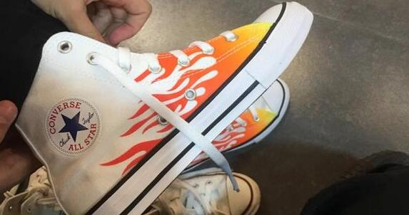 Converse Chuck Taylor All Star高帮火焰男款板鞋凑单价$26.24