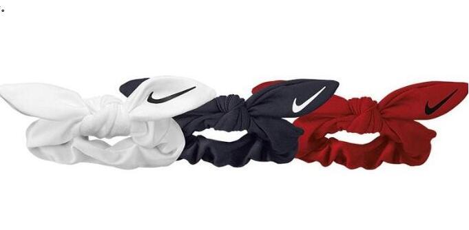 Nike耐克 运动风蝴蝶结三色发圈75折价$13.5