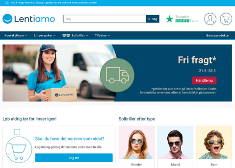 丹麦海淘: 隐形眼镜Lentiamo丹麦海淘网站!