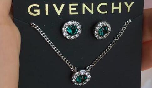 Givenchy纪梵希女款锁骨项链+耳钉套装 两色可选 折后$16.8