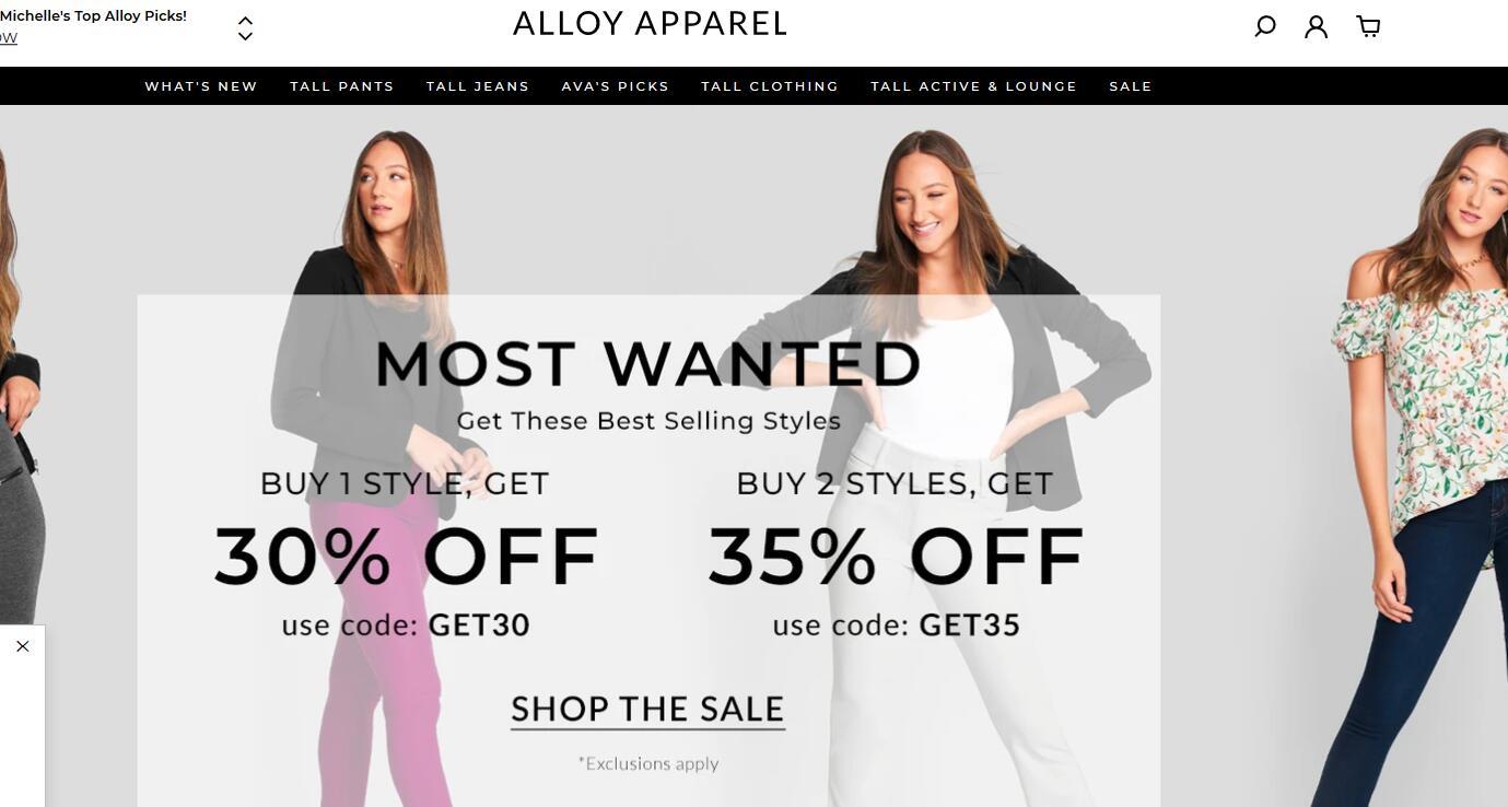 Alloy Apparel美国官网 Alloy Apparel美国官方海淘网站