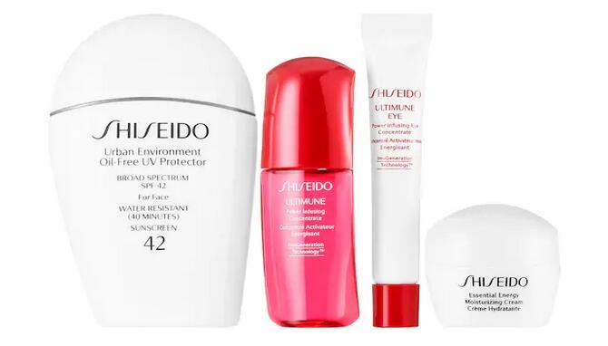 Shiseido资生堂SPF x Every Day白胖子套装(价值$106)售价$48,会员再8折