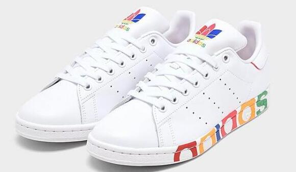 ADIDAS ORIGINALS Stan Smith男款彩虹字母休闲鞋5.8折$48.75