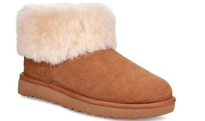 UGG Classic Mini Fluff 雪地靴 降至63折价$99.99