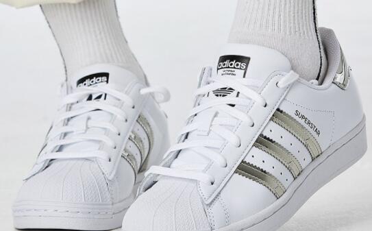 Adidas Superstar阿迪达斯液态银女士贝壳头板鞋 折后$30.09