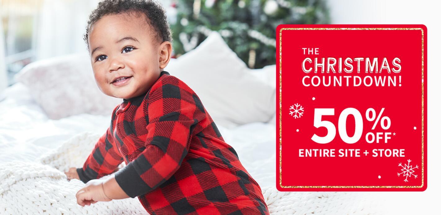 Carter's美国官网儿童服饰低至42折+额外8折,另有礼卡限时买赠