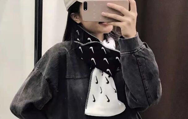黑色补货!NIKE 耐克 SWOOSH logo 围巾85折价$29.99