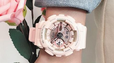 CASIO卡西欧G-Shock GMAS110MP-4A1女款双显运动腕表65折$83.9