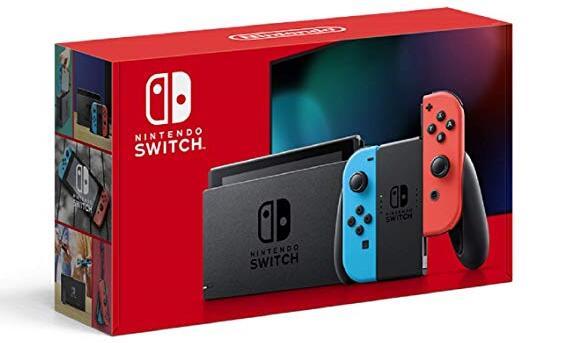 Nintendo Switch任天堂游戏主机全新红蓝续航增强版仅$299.99
