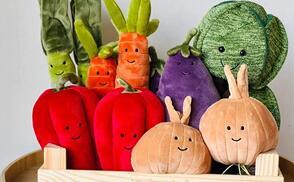 Albeebaby美国官网现有Jellycat多款毛绒玩具额外8折促销